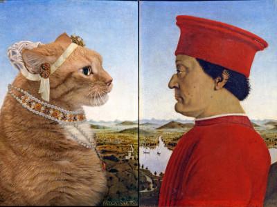 Пьеро делла Франческа, Портрет герцога Урбино и его кота