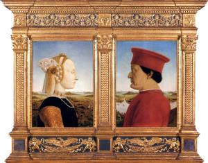 Пьеро делла Франческа, Урбинский диптих: Портрет Федериго да Монтефельтро и Баттисты Сфорца