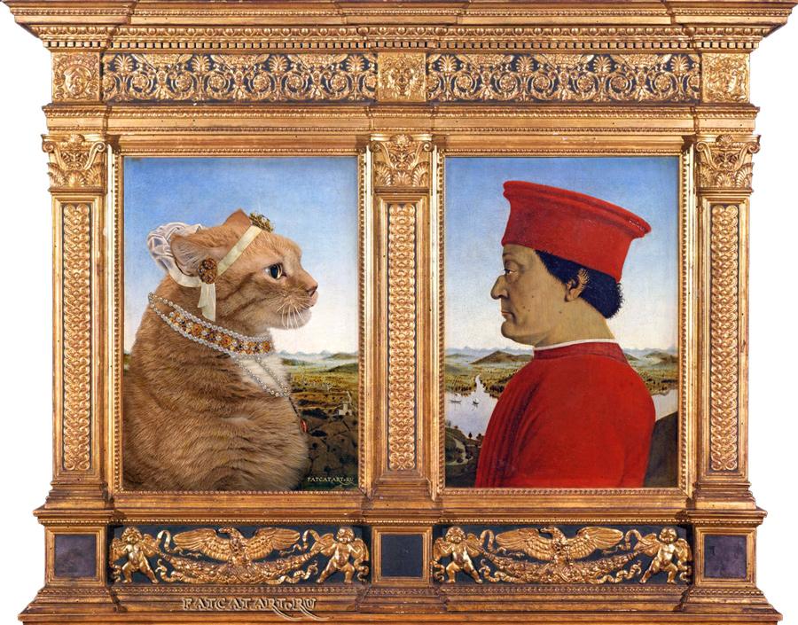 Поздравлялка и пожелалка 3 (новая тема) - Страница 9 Urbino-Dyptic-framed-cat-w