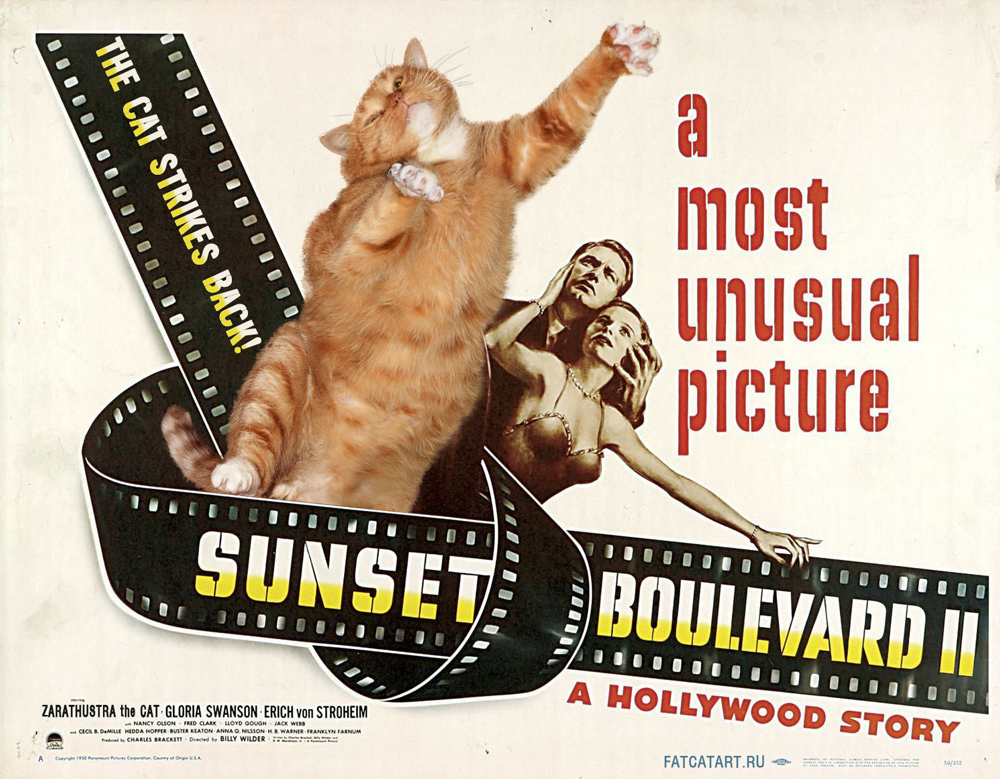 Sunset Boulevard II: The Cat Strikes Back! by fatcatart.com