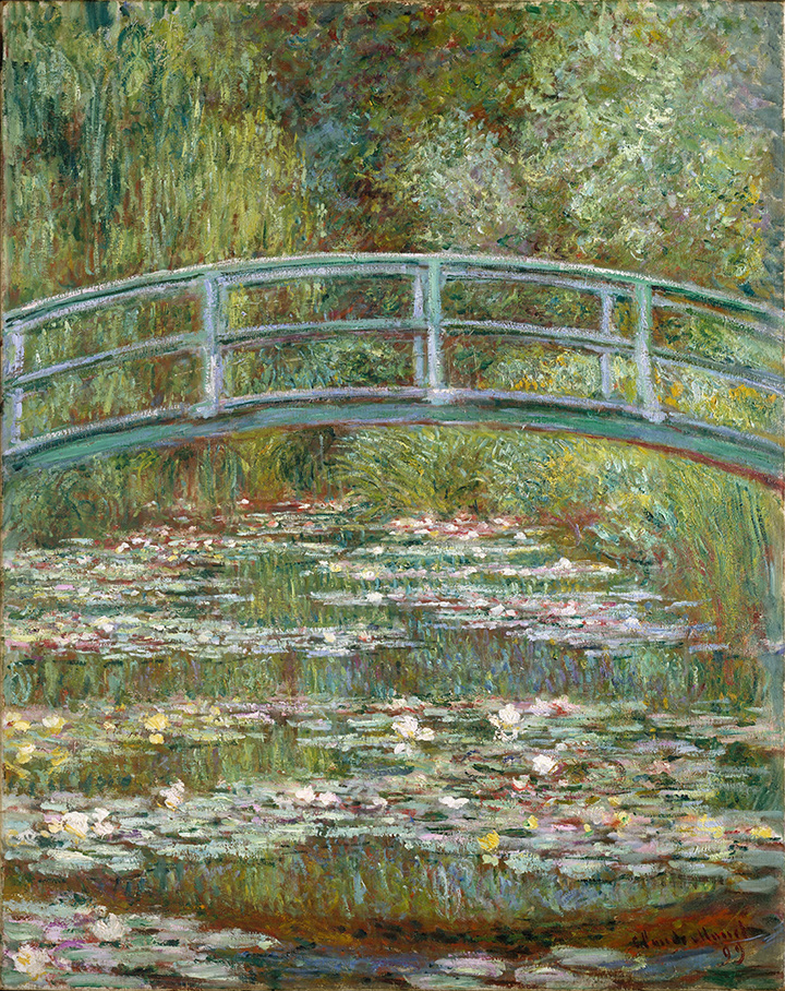 Claude Monet, Bridge over a Pond of Water Lilies, from the Metropolitan Museum of Art