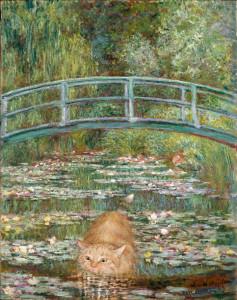 Клод Моне, Купание под мостом с водяными лилиями