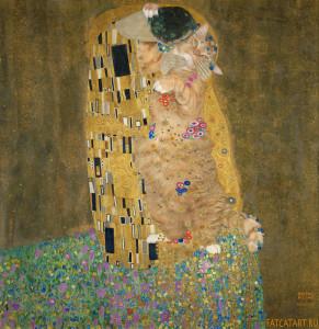Густав Климт, Поцелуй, подлинная версия