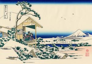 Кацусика Хокусай, Снежное утро на реке Коисикава. Общеизвестная версия