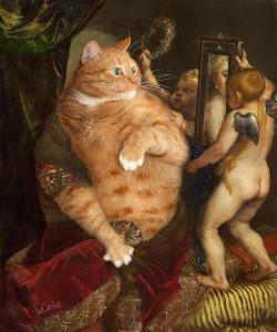 Titian, Venus with a Mirror or Venus in furs. True version. Part I of Venus' Selfie diptych.