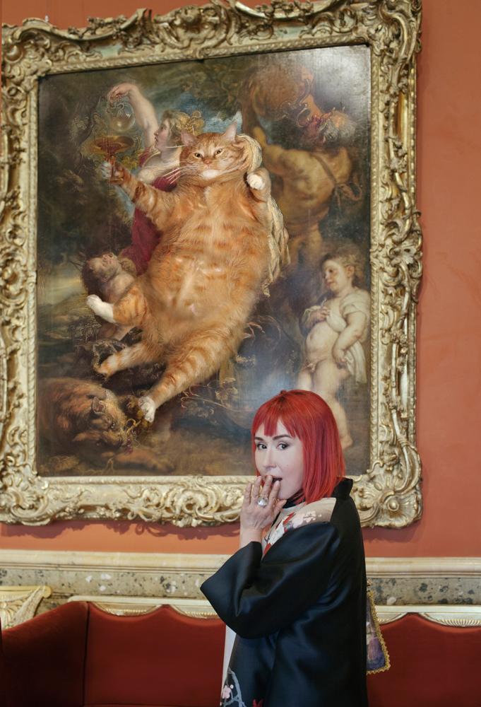 Selfie with Rubens, Bacchus