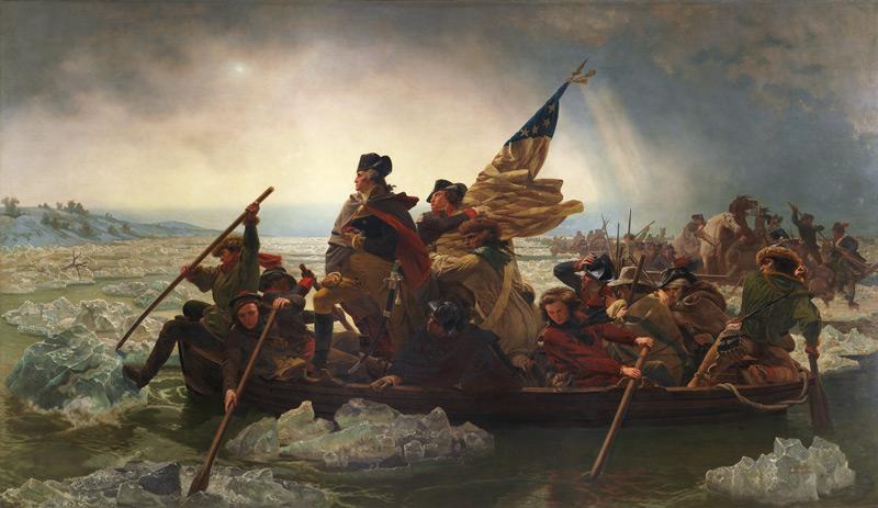 Эмануэль Лойце, «Вашингтон пересекает Делавэр», из коллекции Музея Метрополитен