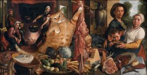 Pieter Aertsen, Fat Cat at Fat Kitchen