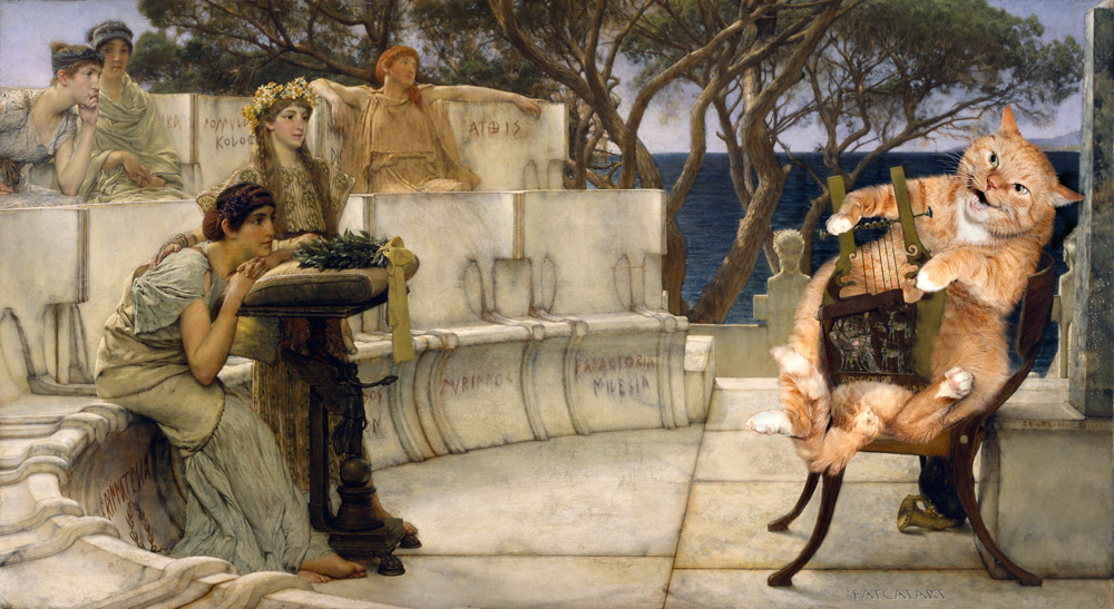Alma-Tadema, Sappho and the fat cat