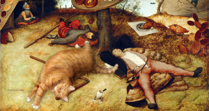 Bruegel-The-Land-of-Cockaigne-cat-min