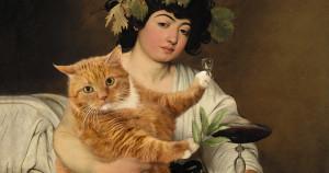Caravaggio-BACCHUS-cat-min