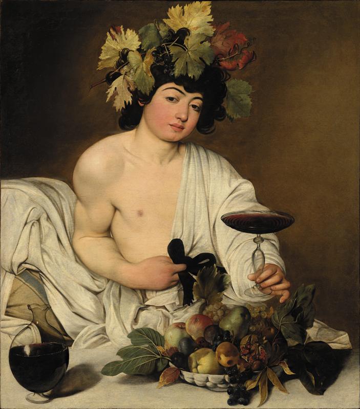Caravaggio, Bacchus. From Uffizzi gallery
