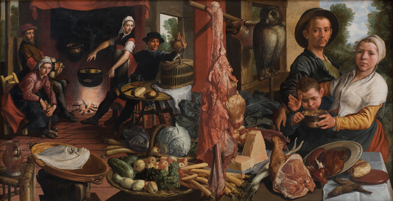 Pieter Aertsen, Fat Kitchen, from SMK collection