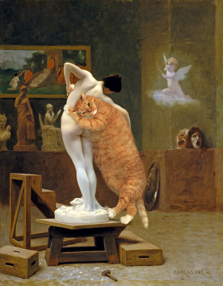 Jean-Léon Gérôme, Pygmalion the Cat and Galatea