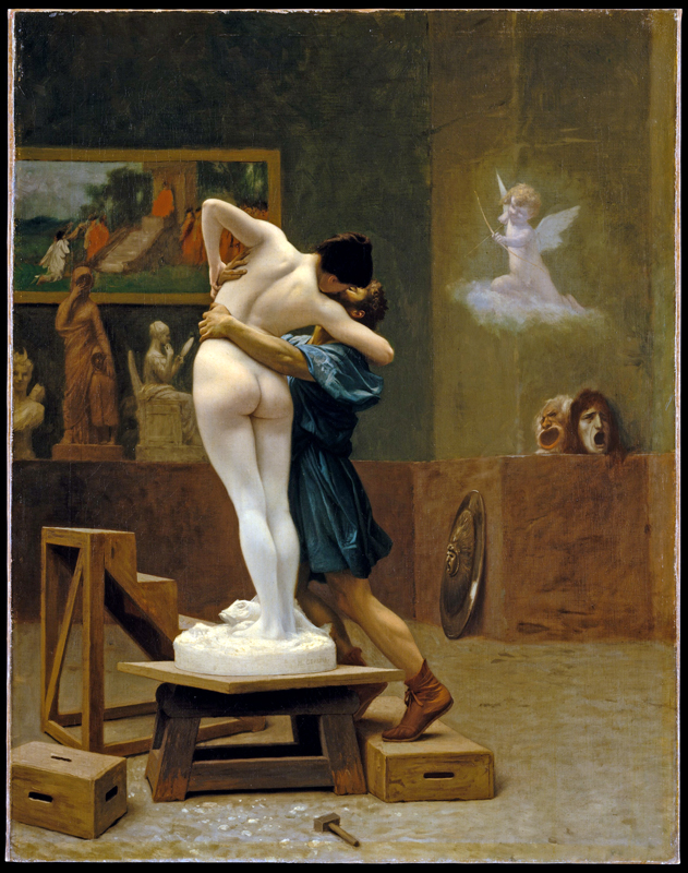 Jean-Léon Gérôme, Pygmalion and Galatea, from the Metropolitan Museum collection