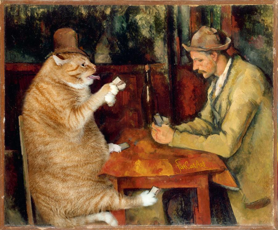 Поль Сезанн, «Игроки в кошачий покер»