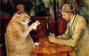 Cezanne-Cat-Cards-Players-min