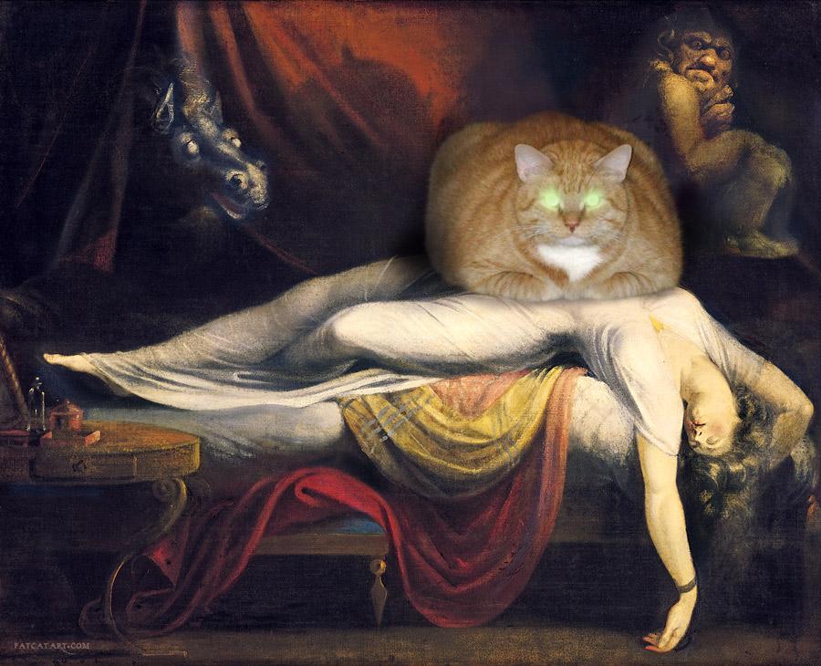 Henry Fuseli, The Nightmare Cat, 1781