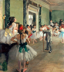 Edar Degas, The Ballet Class, Musee d' Orsay version