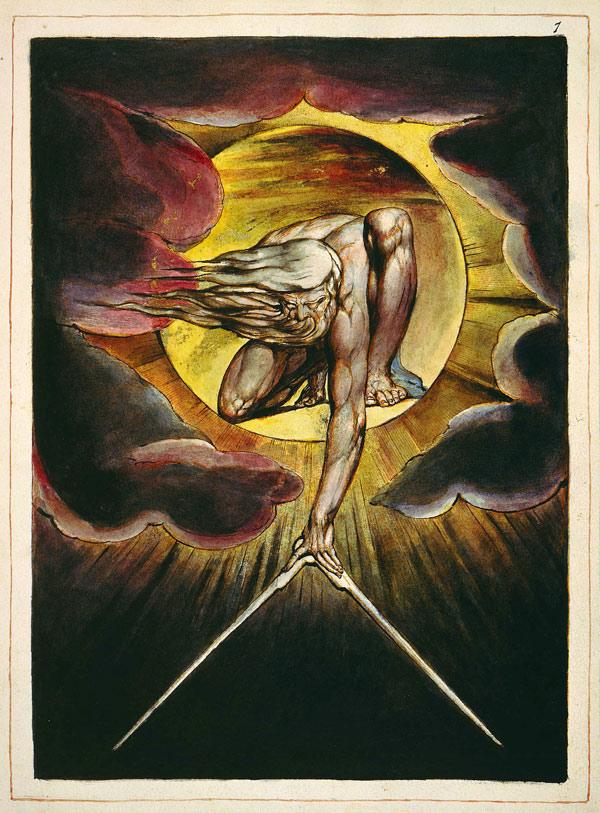 Уильям Блейк, Ветхий днями, гравюра из книги «Европа, пророчество»