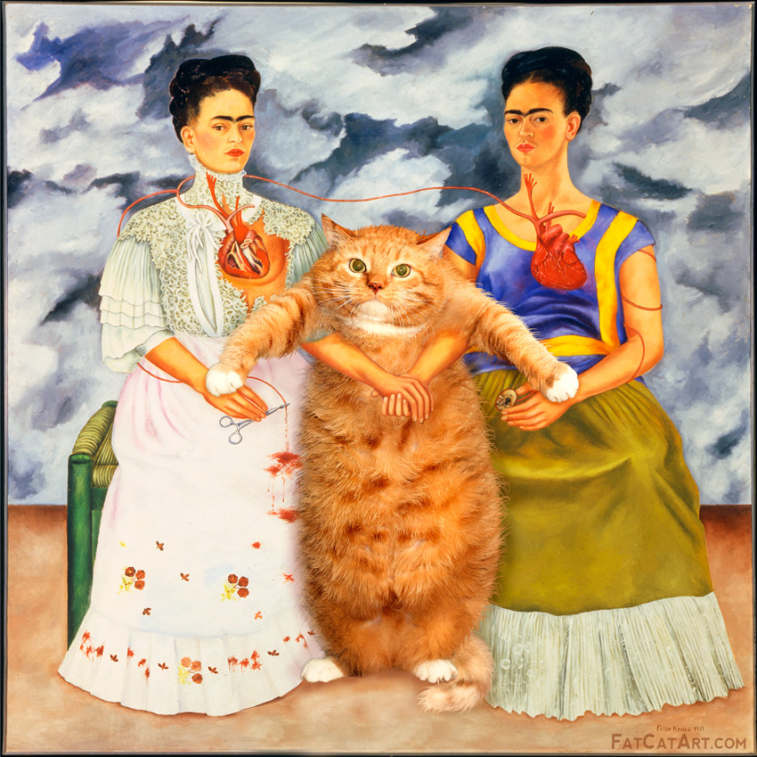 Frida Kahlo, Two Fridas and One Cat