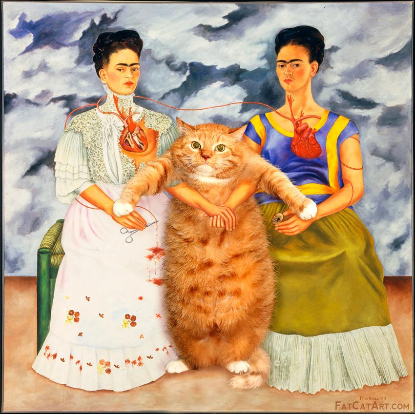 Frida Kahlo, Two Fridas and One Cat