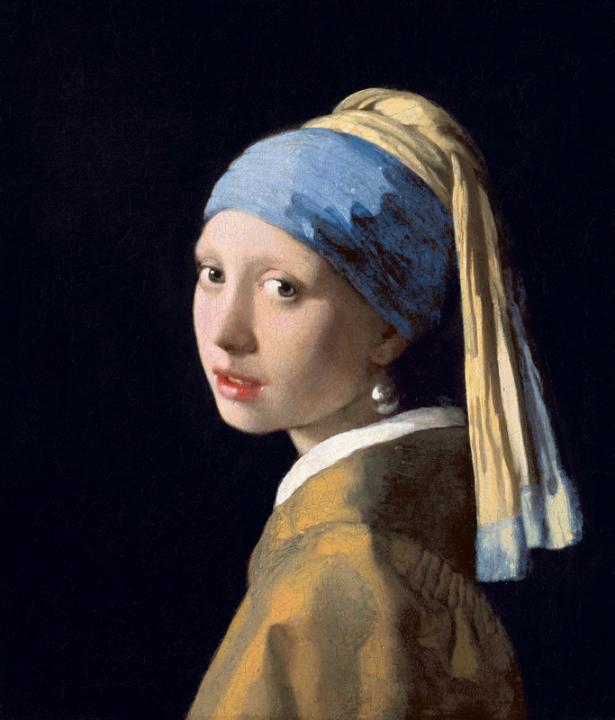 Johannes Vermeer, Girl with a Pearl Earring, from the Mauritshuis collection