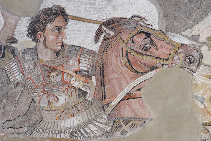 Alexander the Great at the Battle of Issus, from the collection of Naples National Archaeological Museum