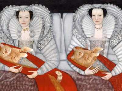 British School 17th century, Cholmondeley Cat Ladies