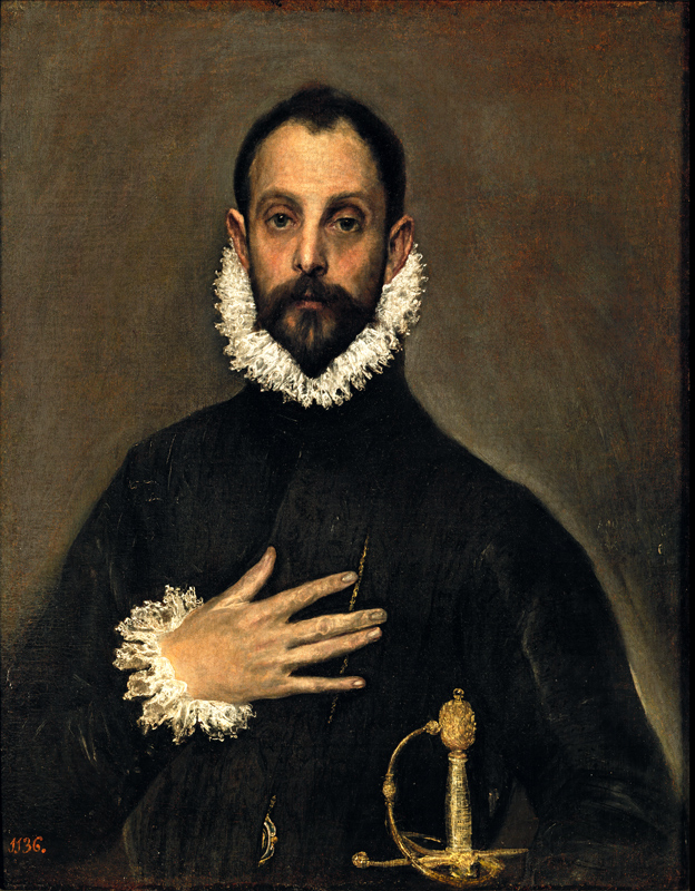 The Nobleman with his Hand on his Chest