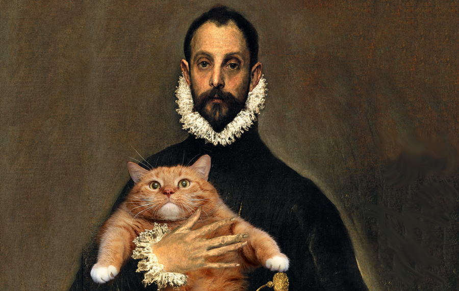 Хиханьки да хаханьки - Страница 20 El_Greco_The-Nobleman-with-his-Hand-on-his-Cat-min