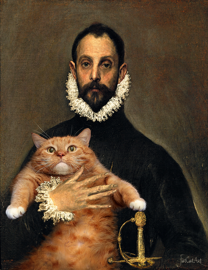 El Greco, The Nobleman with his Cat on his Chest