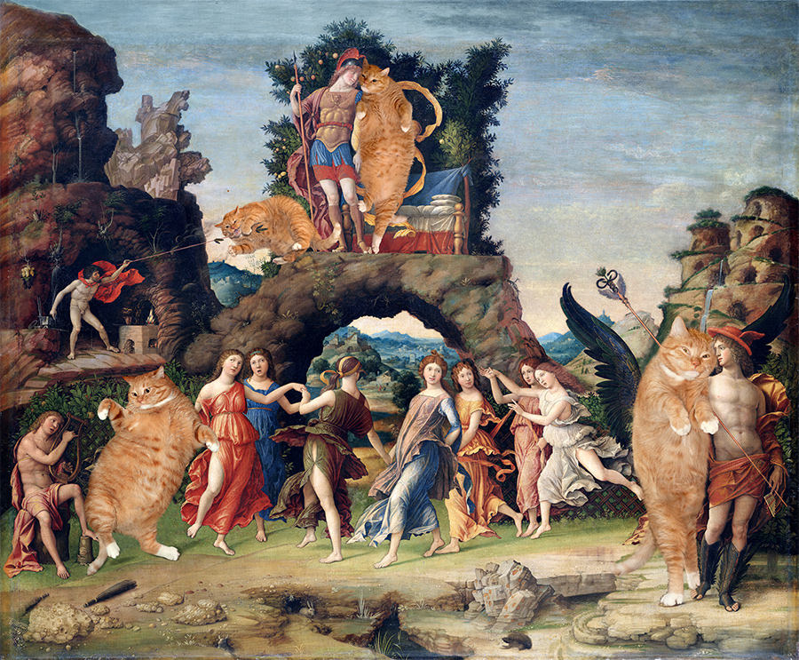 Andrea Mantegna, Parnassus, True version