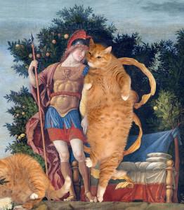 Mars is hugging cat Venus