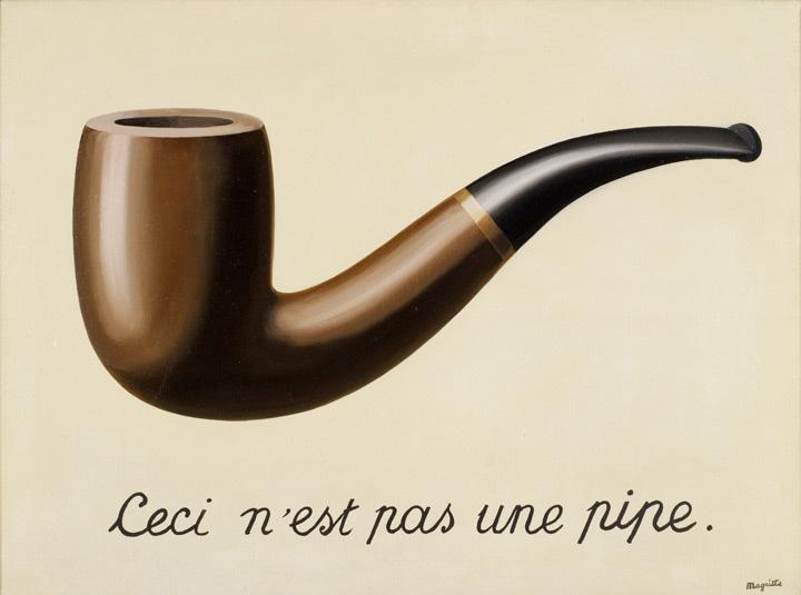 René Magritte. La trahison des images. Ceci n'est pas une pipe