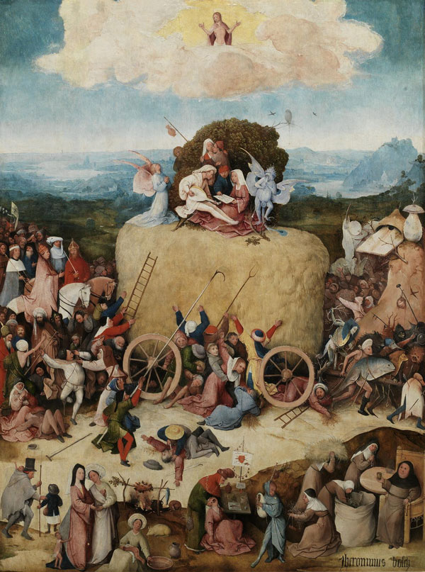 Hieronymus Bosch, The Haywain, from Prado Museum