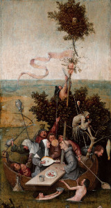 Hieronymus Bosch, The Ship of Fools, from Louvre Museum collection