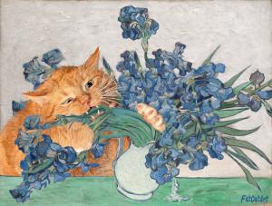 Vincent van Gogh, Irises and the Cat
