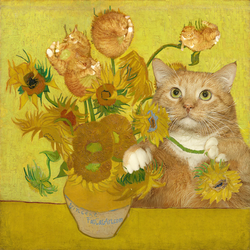 Vincent van Gogh, Sunflowers are ginger kittens