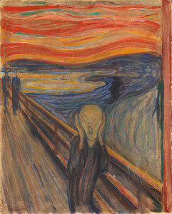 Edvard Munch, The Scream, 1893, from the collection of the National Museum, Oslo