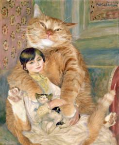 Pierre-Auguste Renoir, The Cat with Julie Manet, 1887