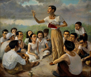 "Chua Mia Tee ""Epic Poem of Malaya"", from National Gallery Singapore"