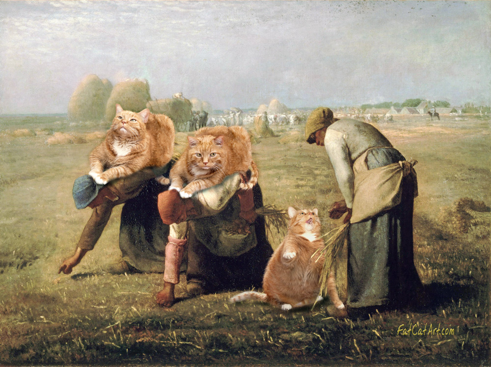 Jean-Franсois Millet, The Gleaners,  or Cute Overload of Overlords