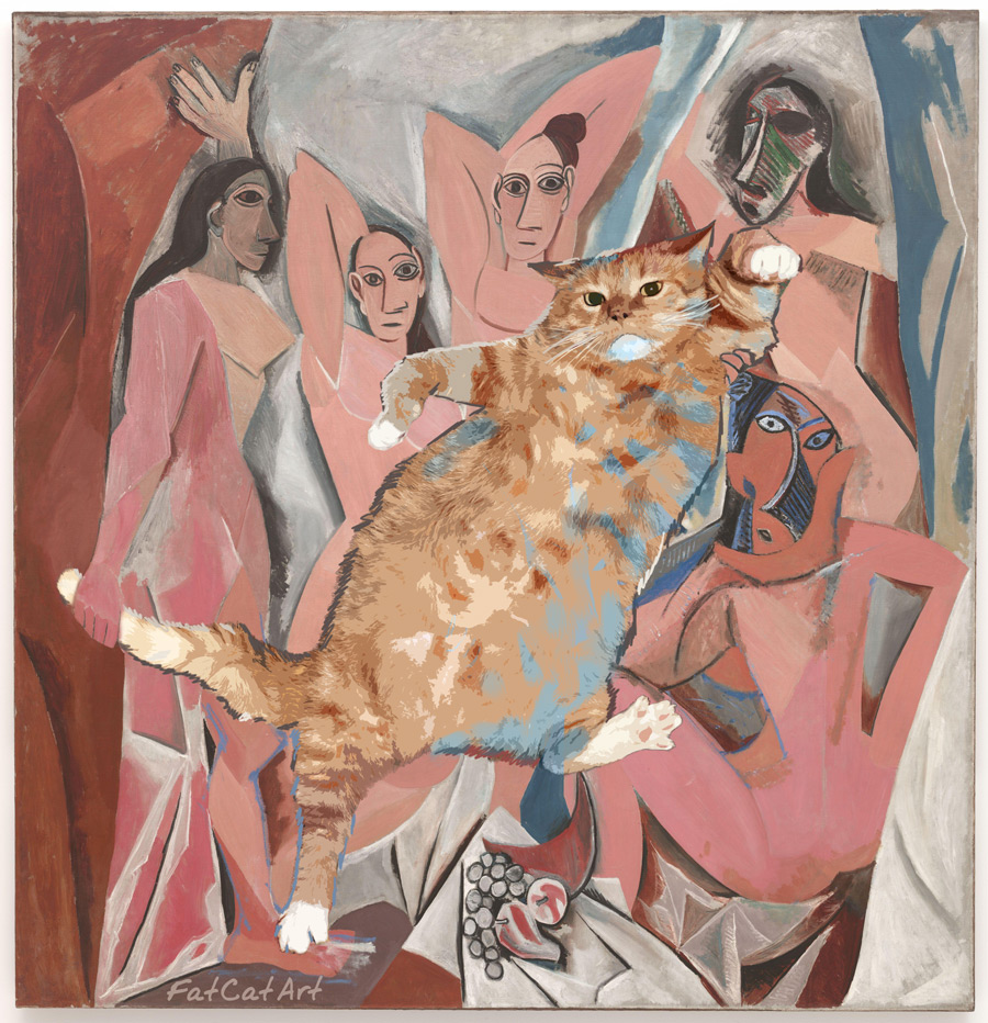Pablo Picatso, Le Chat et Les Demoiselles d'Avignon