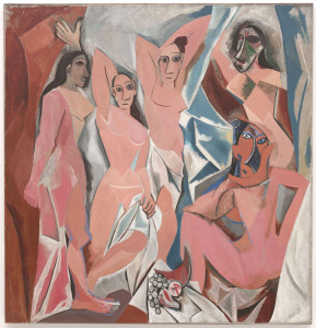 Pablo Picasso, Les Demoiselles d'Avignon, from MoMA collection