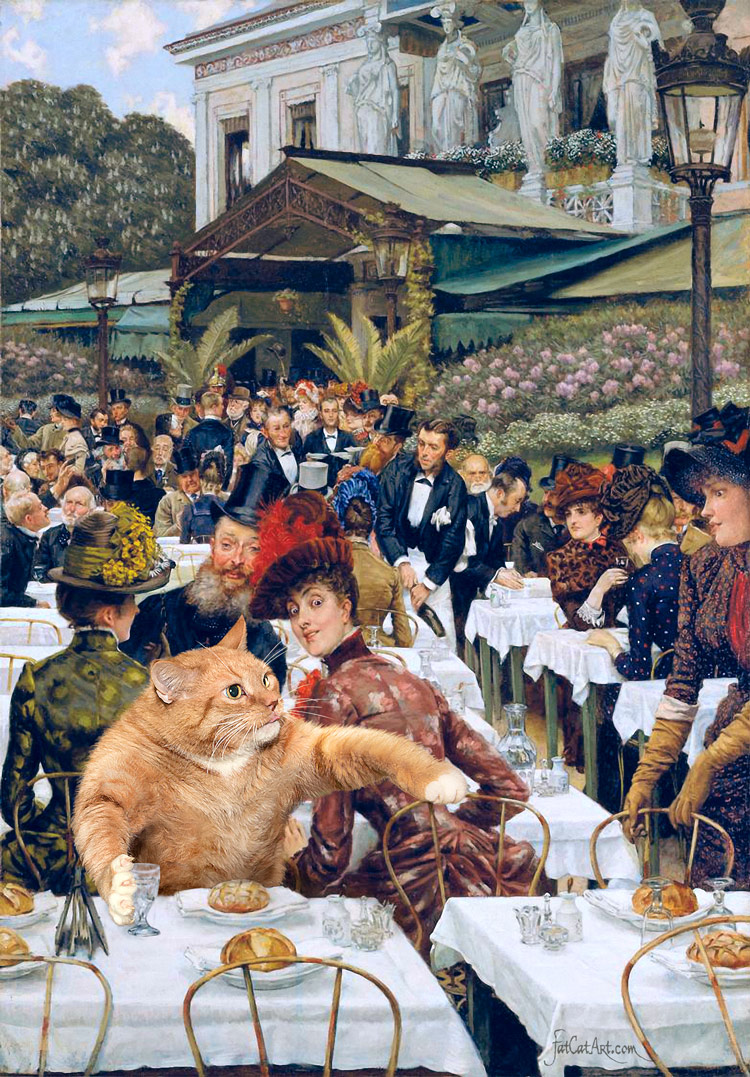 James Jacques Joseph Tissot, The Wives of the Artist-Cat