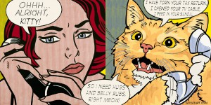 "Roy Lichtenstein ""Ohhh…Alright, kitty…"""