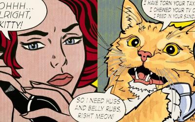 """Roy Lichtenstein """"Ohhh…Alright, kitty…"""""""