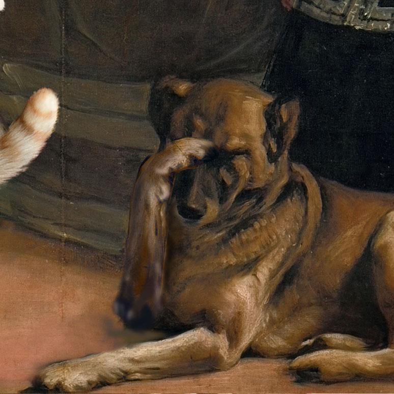 "The dog in ""Las Meowninas"""