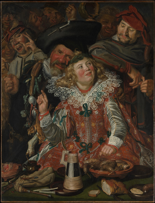 Frans Hals, Merrymakers at Shrovetide, from the Metropolitan Museum collection